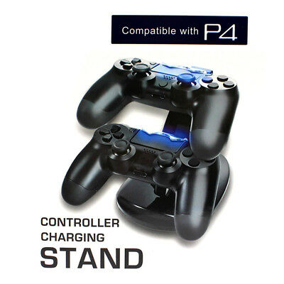 AU11.88 • Buy Dual USB Controller Charger Charging Stand Station Dock For PS4 Dualshock LED_cd