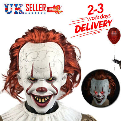 £22.95 • Buy Adult Pennywise IT Clown Mask Games Latex Scary Halloween Costume Party-Props UK