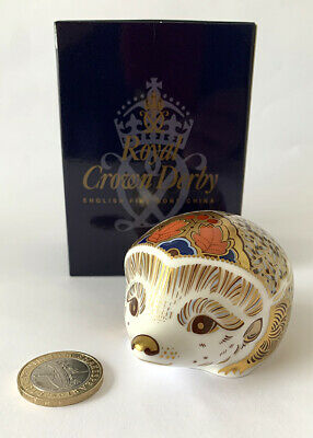 £59.95 • Buy Royal Crown Derby Boxed 1st Quality Paperweight Hawthorn (Mother Hedgehog Large)