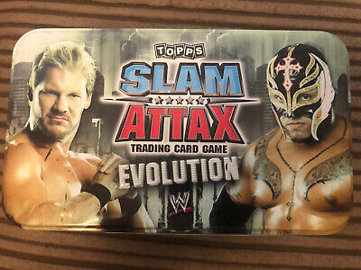 £2.50 • Buy 20 Topps WWE Slam Attax Evolution Cards + Tin Incl Batista Limited Edition
