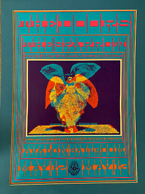 """$125 • Buy Vintage 1967 """"Butterfly Lady"""" The Doors/Sparrow Avalon Ballroom Concert Poster"""