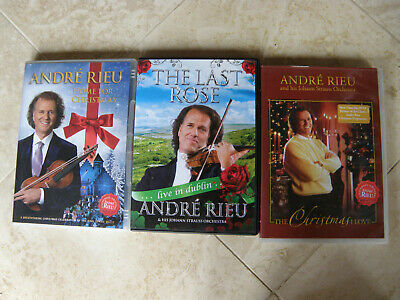 £10 • Buy 3 X Andre Rieu DVDs, The Christmas Love/The Last Rose Live In Dublin/Home For Ch