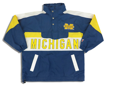 £39.99 • Buy MICHIGAN WOLVERINES TWINS APPAREL PULLOVER JACKET XL 1990s AMERICAN FOOTBALL