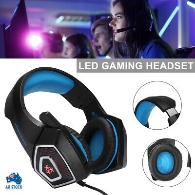AU22.59 • Buy New 3.5mm Gaming Headset Headphone Headband + Microphone For PC PS4 XBOX ONE