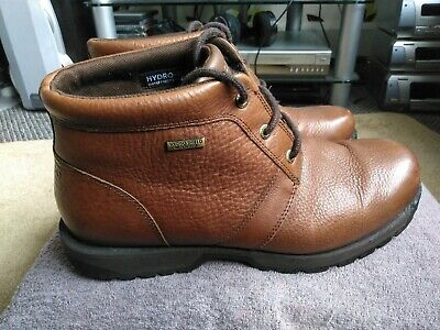 £12 • Buy Men's Rockport Hydro-Shield Brown Leather Boots Size UK 10 Waterproof VGC .