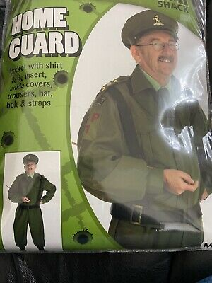 £19.99 • Buy Mens British Homeguard Costume Adult WW2 Soldier Fancy Dress Medium Dads Army 1D