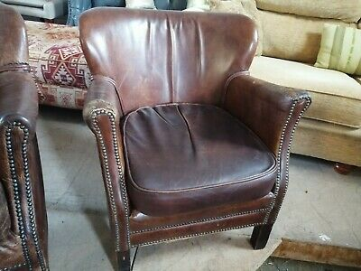 £149 • Buy Halo Little Professor Armchair Chair Distressed Leather DELIVERY Poss