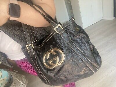 AU270 • Buy Gucci Leather Hand Bag Very Good Condition