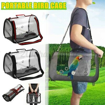 £20.46 • Buy 16'' Parrot Bird Carrier Backpack Travel Outdoor Transport Cage Breathable