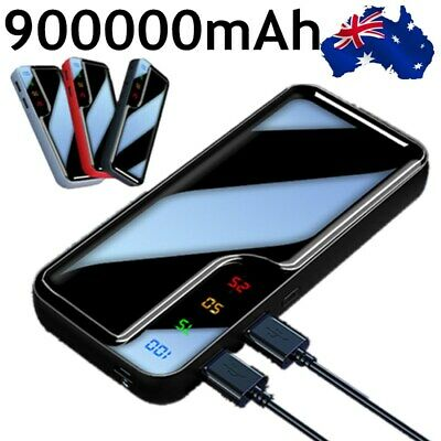 AU23.88 • Buy 900000mAh Power Bank Universal Dual USB Type C Input Fast Charge Battery Charger