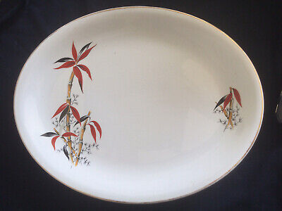 £9.50 • Buy Vintage Barratts Delphatic China Oval Bamboo Platter Serving Plate