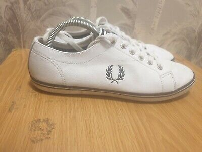£16 • Buy Fred Perry Spencer Mens Canvas Trainers Shoes Lace Up Plimsolls White UK 7