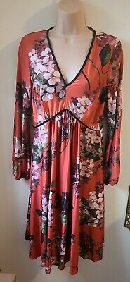 AU5.48 • Buy ASOS Maternity Red Floral Long Sleeve Dress Size 10