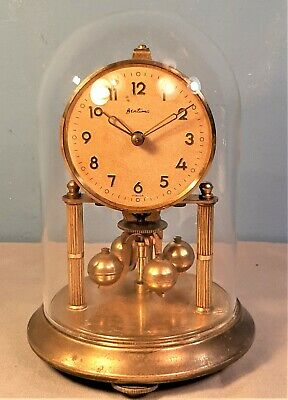 £19.95 • Buy Antique Bentima 400 Day Anniversary Clock Under Glass Dome, Working Order