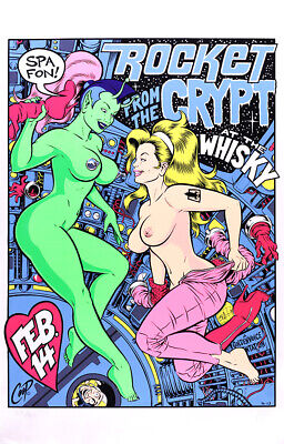 $74.99 • Buy Rocket From The Crypt 1996 Silkscreen Concert Poster Signed By Coop