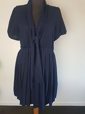 AU29.95 • Buy Princess Highway Cute Navy Casual Fit And Flare Dress Size 14