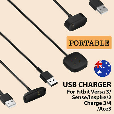 AU6.90 • Buy USB Charger Charging Cable For Versa 3 Sense Inspire2/Ace3 Inspire/HR Charge 3/4