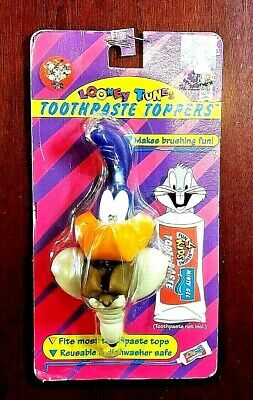 £15.25 • Buy Road Runner & Wile E Coyote Heads Toothpaste Toppers 1995 Looney Tunes   Mopar