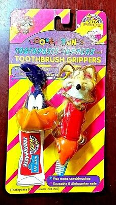 £10.89 • Buy Road Runner & Wile E. Coyote Toothpaste Topper & Grip NIB 1995 Looney Tunes WB