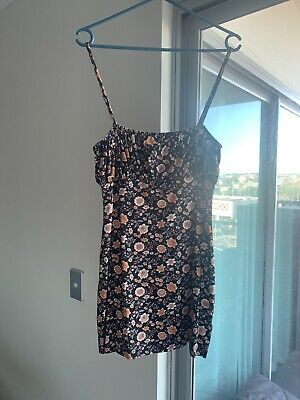 AU150 • Buy Arnhem Fitted Mini Dress | Size 8 | Black/Floral. New Without Tags