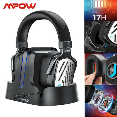 AU117.88 • Buy Mpow PS4 Wireless Gaming Headset 3.5mm PC Surround Headphones &Charging Base Mic