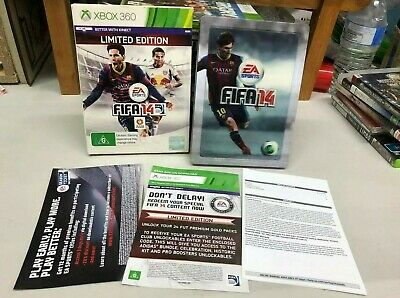 AU10.95 • Buy Xbox 360 Fifa14 Limited Edition Steelbook Slipcover Mint Disc+ Manuals 🇦🇺PJ