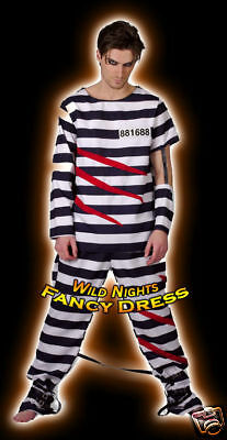 Fancy Dress Costume - Fun Escape From Alcatraz Prisoner • 19.95£