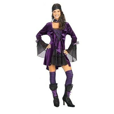 Fancy Dress Costume ~ Deluxe Purple Sassy Pirate Wench • 32.99£