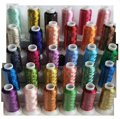 25 Large Embroidery Machine Thread 1000 Mtrs Each Brother Janome Singer+5 FREE  • 29.99£