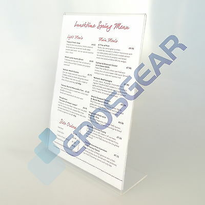 1 A4 Portrait Angled Lean To Counter Perspex Acrylic Leaflet Flyer Display Stand • 5.30£