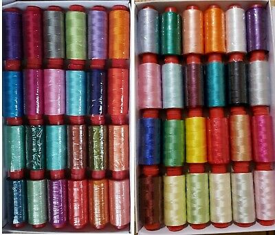 30 Large Embroidery Machine Thread For Brother,Janome More, 30 Colours • 12.99£