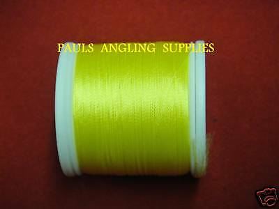 Fishing Rod Whipping Thread  100 Yds YELLOW • 9.07£