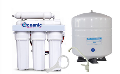 Oceanic Home Pure RO Reverse Osmosis Water Filter System 5 Stage 100 GPD | USA • 90.29£