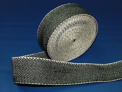 £15.99 • Buy 33 Meters Traditional Extra Strong Black & White Webbing  -  Upholstery Supplies
