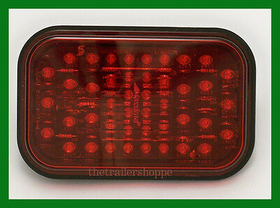 $24.50 • Buy Maxxima Red 5  Rectangular SST Stop Turn Tail 44 LED Tail Light M42201R