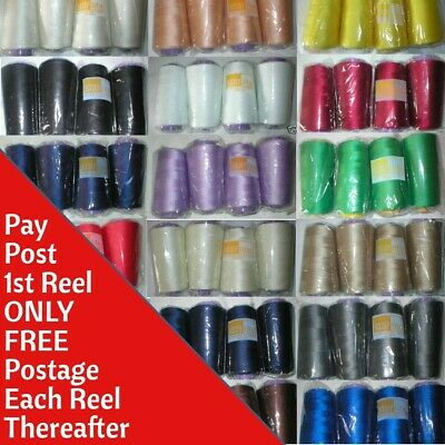 OVERLOCKER SEWING MACHINE THREAD 5000mtr POLYESTER LOTS OF COLOURS Top Quality • 2.59£