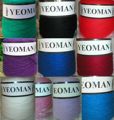 Yeoman Cashmilon Acrylic Yarn 4ply 500g Hand / Knitting Machine Choice Of Colour • 11.75£