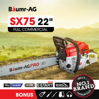 AU164 • Buy BAUMR-AG Commercial Petrol Chainsaw E-Start 22 Chain Saw Tree Pruning Top Handle