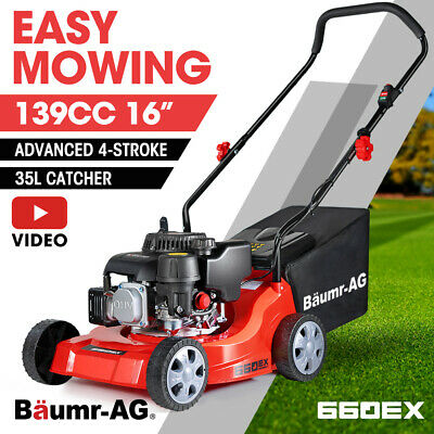 AU249 • Buy 【EXTRA15%OFF】Baumr-AG Lawn Mower 16  Petrol Powered Hand Push Engine