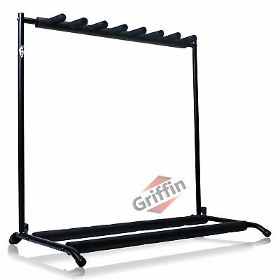 $ CDN59.21 • Buy GRIFFIN 7 Guitar Rack Stand Storage – Multiple Support Floor Bass Holder Mount
