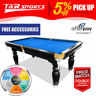 AU1495.99 • Buy 15%off 8ft Slate Pool Billiard Table Solid Timber Sale! 4 Leg Levelers Included
