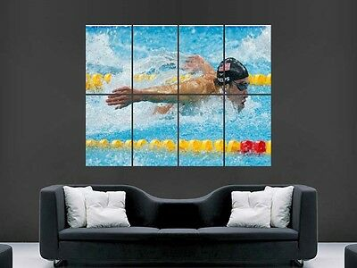 £17.99 • Buy Michael Phelps  Wall Art Picture Poster   Giant Huge Olympic Swimming G74