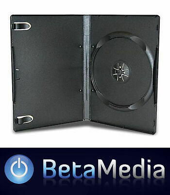 AU49.50 • Buy 100 X Single Black 14mm Quality CD / DVD Cover Cases - Standard Size DVD Case