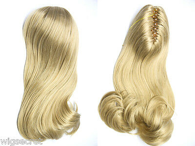 $24.99 • Buy Silky Straight Hair Claw Clip With A Wave Curling Long Wavy Pieces Hair Pieces