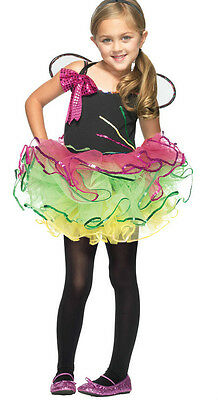 Rainbow Butterfly Sparkly Fairy Age 3 4 Costume Leg Avenue Girls Pagent C48151 • 22.99£