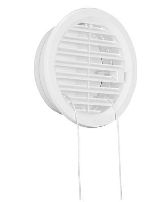 £4.99 • Buy Adjustable Circle Air Vent Grille Cover 100mm Ducting White Ventilation Cover