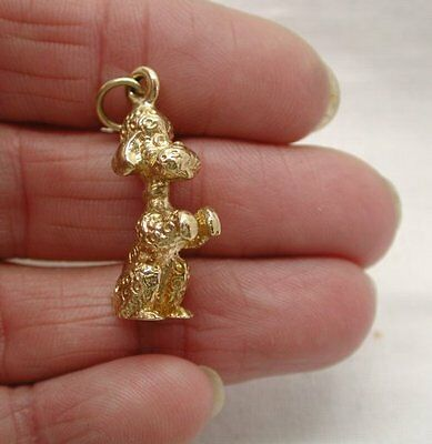 £272.25 • Buy 1970's Heavy Solid 9ct Gold BEGGING FRENCH POODLE DOG Charm