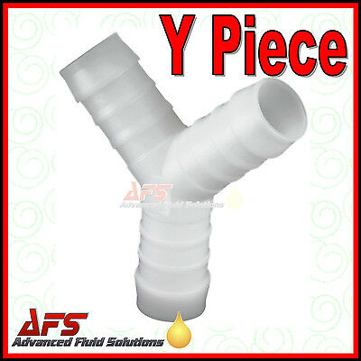 Y Piece Hose Joiner - Plastic Barbed Connector Pipe Fitting Air Fuel Water Fuel • 2.02£