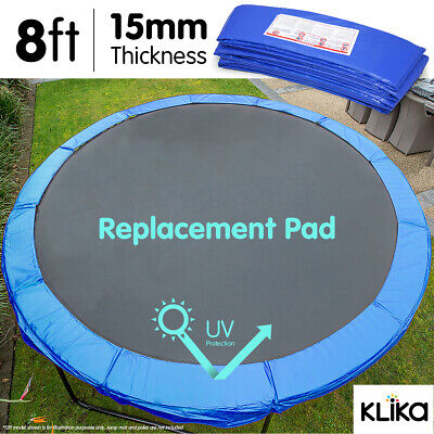AU65 • Buy NEW 8ft REPLACEMENT REINFORCED OUTDOOR ROUND TRAMPOLINE SAFETY SPRING PAD COVER