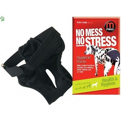 Mikki Dog Hygiene Pants Now Mess No Stress For Dogs Bitches On Heat In Season • 8.49£